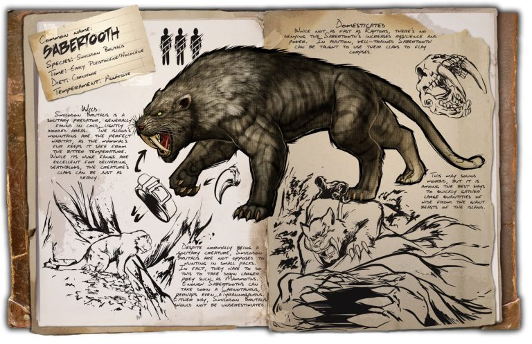 Sabertooth ark division france dino dossier
