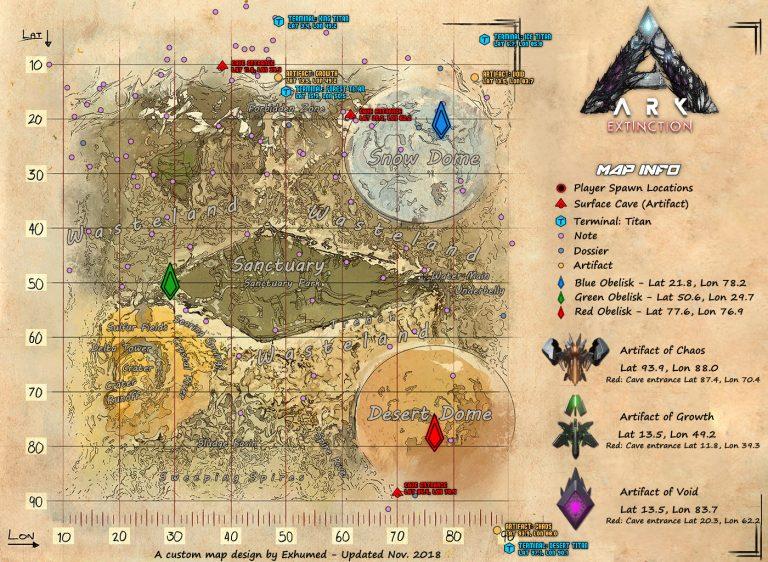 Map Extinction ARK Division France