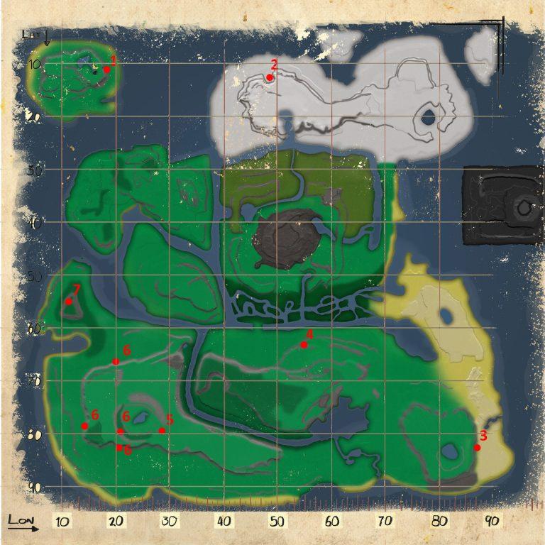 Volcano map Ark Survival
