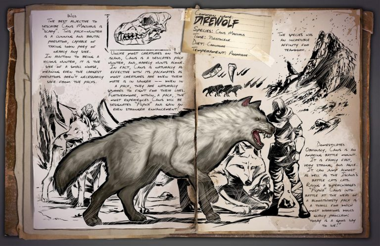 direwolf loup ark division france dino dossier