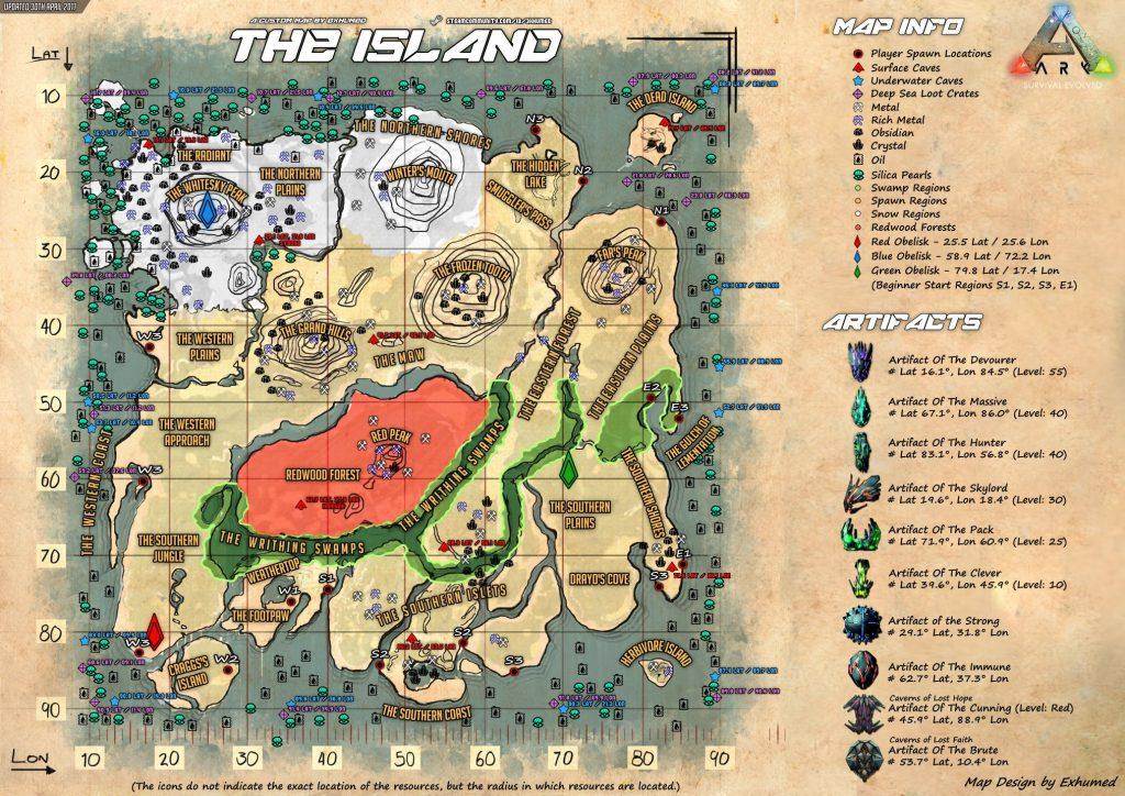 map the island ARK Dvision France